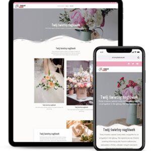 Strona internetowa dla kwiaciarni i florystki