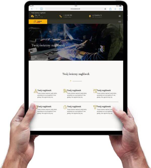 Strona internetowa dla firmy przemysłowej