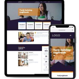 Strona internetowa dla firmy edukacyjnej
