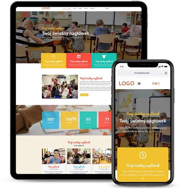 Strona internetowa dla szkoły podstawowej